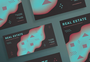 Flyer Layout Set with Geometric Elements