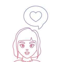 cartoon woman icon