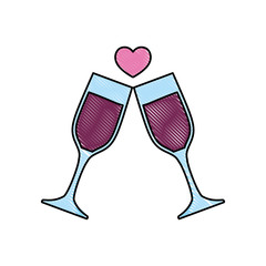 champagne glasses toast love celebration