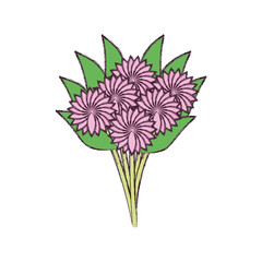 delicate bouquet flowers decoration