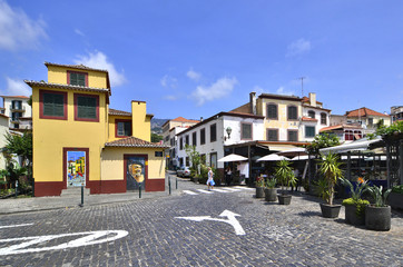 Old historic town center of Funchal, Madeira island, Portugal
