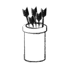 basket with arrows icon