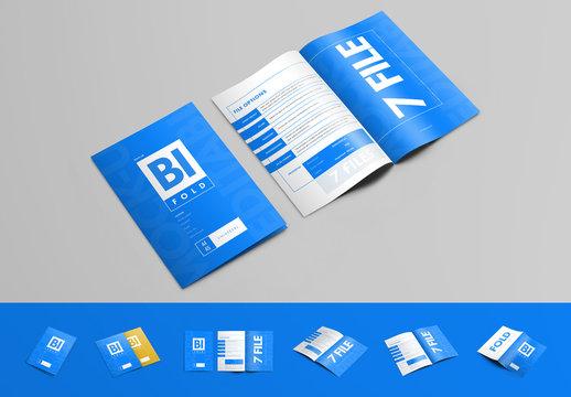 7 Bifold Brochure Mockups