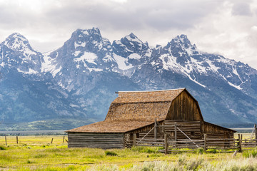 Historic John Moulton Barn, Grand Teton National Park, Wyoming