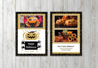 Halloween Photo Card Layout