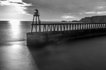Printed kitchen splashbacks Purple Whitby Pier, Whitby, Yorkshire, North East Coast UK