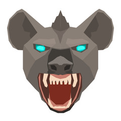 Vector of a hyena Hyaenidae head design on white background. Wild Animals. Easy editable layered vector illustration.