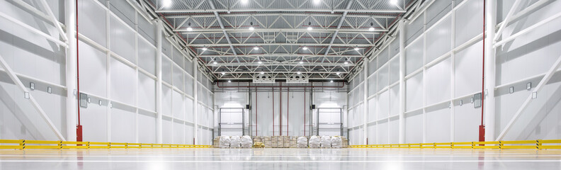 Fotobehang Industrial geb. Huge cold storage warehouse.