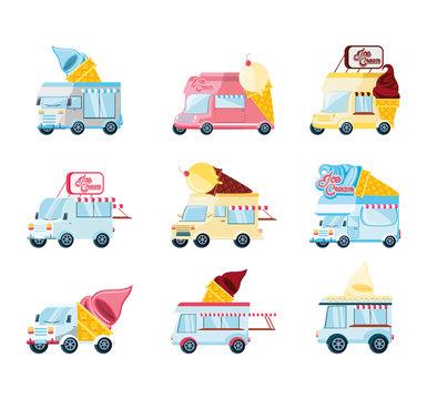 ice cream shop set vans