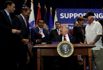 U.S. President Trump participates in appropriations legislation signing ceremony in Las Vegas, Nevada