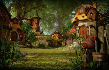 Elves Town, 3d CG