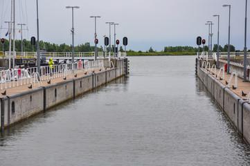 Naviducto Krabbersgat, Holanda, Países Bajos, puente canal, puente de agua o puente acuífero