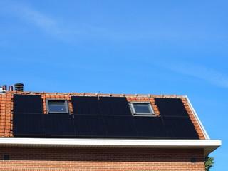 Solarthermie-Anlage auf EInfamilienhaus