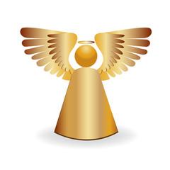 Angel gold icon symbol logo
