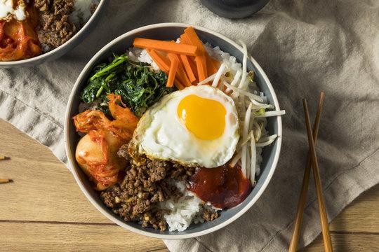 Spicy Homemade Korean Bibimbap Rice