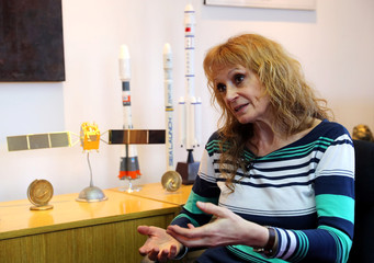 Doctor Laura Frulla, lead investigator in the SAOCOM satellite mission of Argentina's space agency CONAE, speaks during an interview with Reuters in Buenos Aires