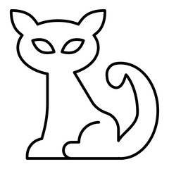 Cat thin line icon. Animal vector illustration isolated on white. Pet outline style design, designed for web and app. Eps 10.