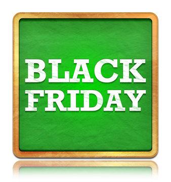 Black Friday green chalkboard square button