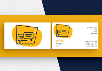 Business Card Layout Set with Chat Icons