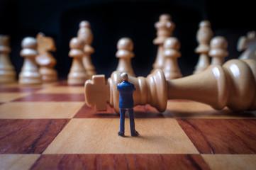 Chess Pieces Businessmen Metaphor