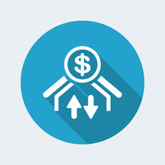Money transfer icon - Dollars