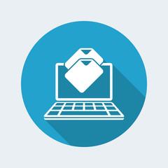 Files download - Flat minimal icon