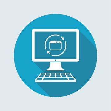Refresh computer window icon