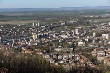 Panoramic view of city of Shumen, Bulgaria