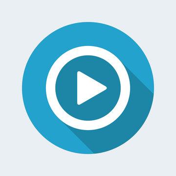 Play single button icon