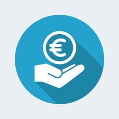 Bank services - Euro - Minimal modern icon