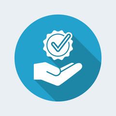 Checkmark symbol - Minimal modern icon