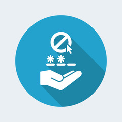 Protection web service - Minimal single icon