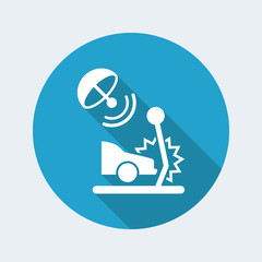 Satellite protection for car crashes - Vector web icon