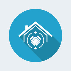 House mutual agreement - real estate- Vector web icon