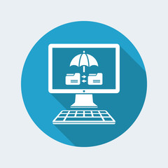 Protected data transfer - Vector web icon