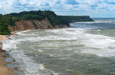 storm, seascape, sea waves, Baltic sea