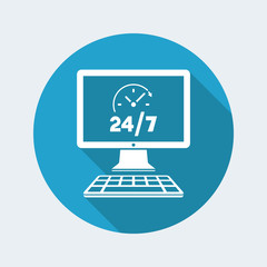 Everyday full time web services - Vector flat icon