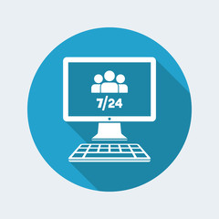 7/24 web team - Vector flat icon
