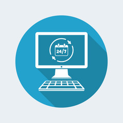 24/7 web services - Vector flat icon