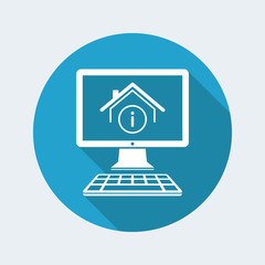 House info - Vector icon of computer application