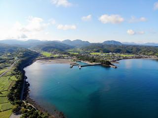 Aerial view of Shoreline, Ooita, Japan