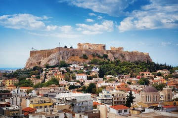 Wall Mural - Athens skyline rooftop