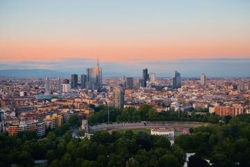 Keuken foto achterwand Milan Milan city skyline