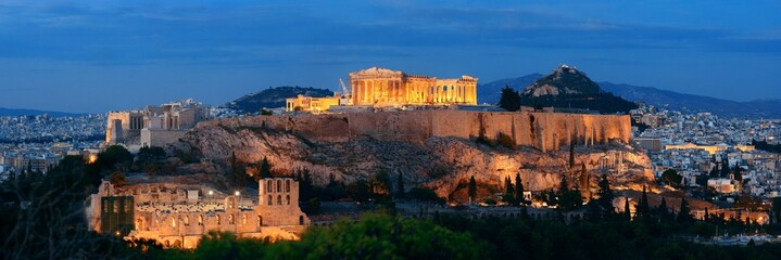 Wall Mural - Athens skyline night