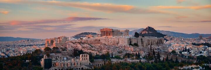 Printed kitchen splashbacks Athens Athens skyline sunrise