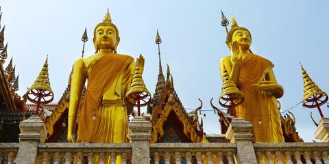 statue of buddha, in buddhist temple