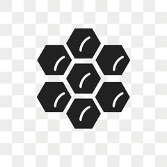 Honeycomb vector icon isolated on transparent background, Honeycomb logo design