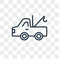 Tow truck vector icon isolated on transparent background, Tow truck logo design