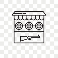Shooting Gallery vector icon isolated on transparent background, Shooting Gallery logo design