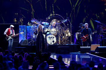 Fleetwood Mac performs during the iHeartRadio Music Festival at T-Mobile Arena in Las Vegas